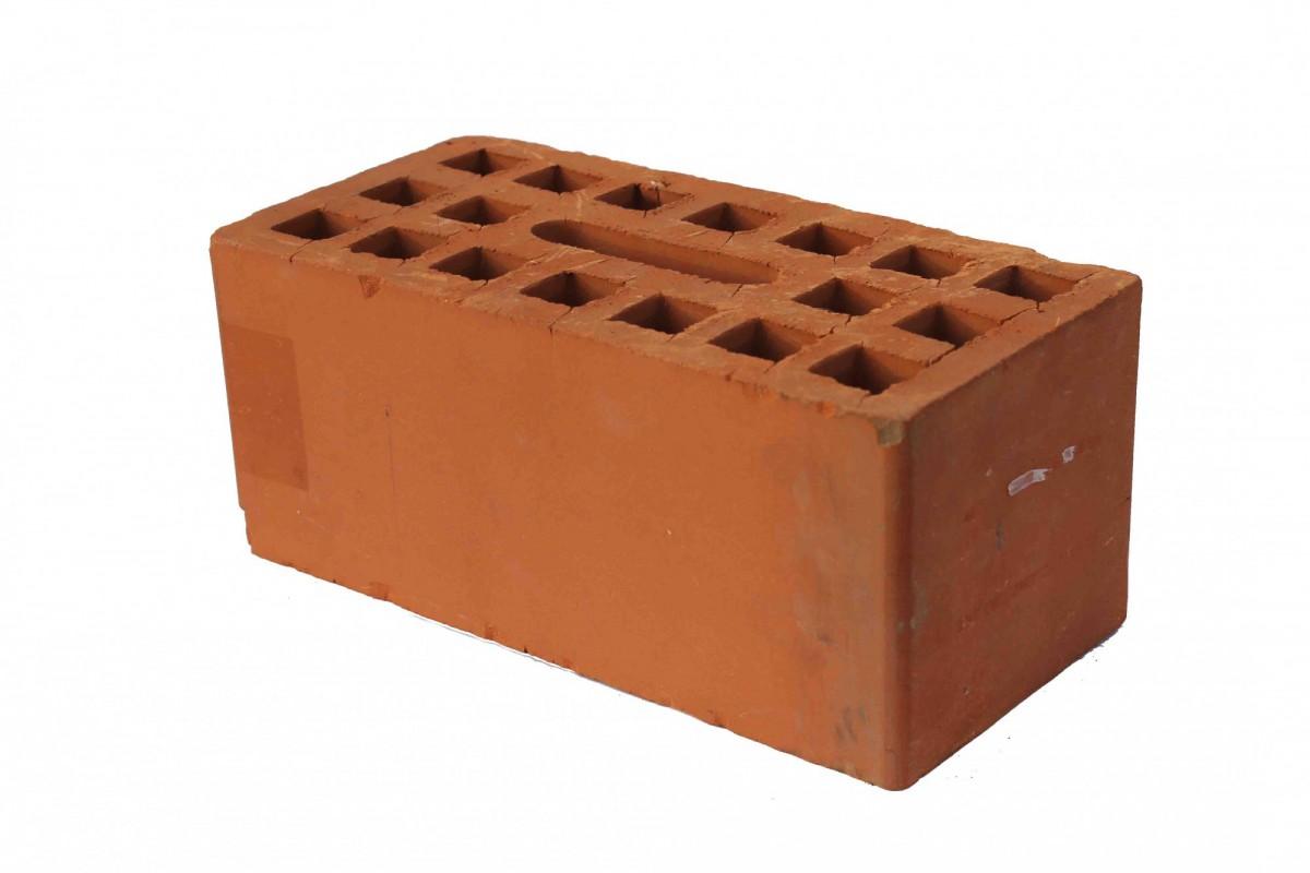 Кирпич керамический лицевой красный пустотелый, утолщенный-103 мм